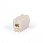 Клеммник  WAGO 2* (0,5-2,5мм.кв.) для светильников белый самозажимной WAGO