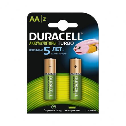 Аккумулятор Duracell HR6 (AA) 2500 mAh - 1