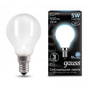 Лампа Gauss LED Filament Шар OPAL E14 5W 450lm 4100K