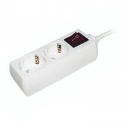 Удлинитель ИЕК  У02К-выкл   2гн/3метра  2P+PE  3*1мм 16A