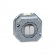 Выключатель двухклавишный наружный в металлическом корпусе серый IP 66