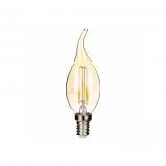 Лампа Gauss LED Black FIL CF37 5w E14 2700К GOLD
