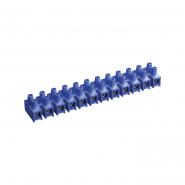 Зажим винтовой ЗВИ-10 н/г 2,5-6мм2 2х12пар IEK синие