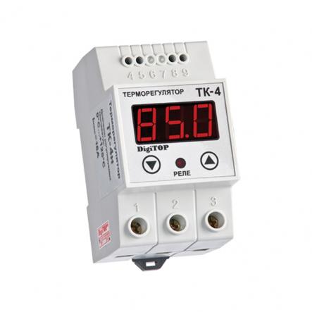 Терморегулятор DigiTop ТК-4н (нагреватели) 0...+125 - 1