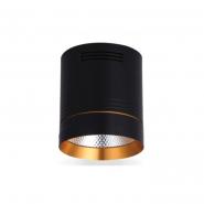 Светильник AL542 COB 18W черный+золото 1530Lm 4000K IP20 100*100*115mm