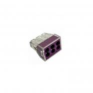 Клема быстрого монтажа СМК 773-326 6х2,5 мм фиолетовая IEK