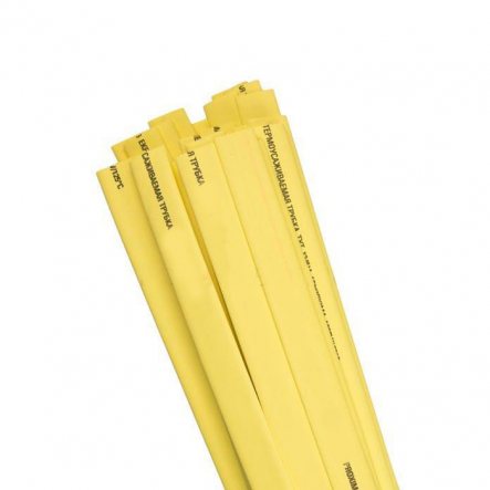Трубка термоусадочная ТТУ 6/3 жёлтая 200м/рул ИЕК - 1