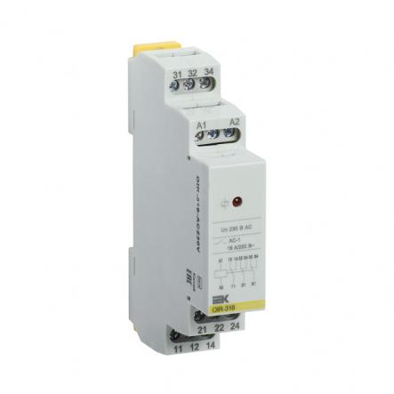 Промежуточное реле IEK OIR 3 конт (16А). 230 В AC OIR-316-AC230V - 1