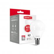 Лампа LED G45 F 4W 4100K 220V E14 Maxus