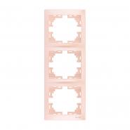Рамка 3-а верт. перлинно-білий перламутр б/вставки