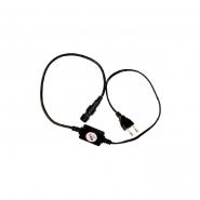 Вилка+кабель 2-х пол. акс. LED