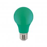 Лампа LED 3W E27 зеленая 10/100 HOROZ