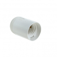 Патрон LEMANSO Е27 пластиковый, без резьбы, белый