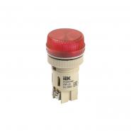 Светосигнальный индикатор IEK ENR-22 d22мм красная неон 240В цил.