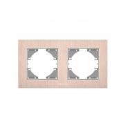 Рамка на 2 места горизонтальная VIDEX Binera Медный алюминий (VF-BNFRA2H-CP)