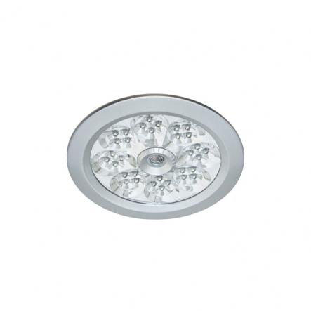 Светильник встраиваемый Е27 LED3.5W(32/LED), 230В+свет.датчик и аудиодатчик, алюминий - 1