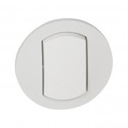 Лицевая панель выключатель  IP44, белая