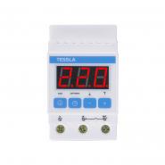 Терморегулятор TESSLA  на DIN-рейку для теплого пола 32 А, 7кВТ DTR