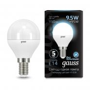Лампа Gauss LED Black G45 9.5W 4100K E14