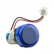 Амперметр+вольтметр круглый цифровой универсал.ток + напряж.ED16-22 VAD0-100А 50-500В(синий)врезн.