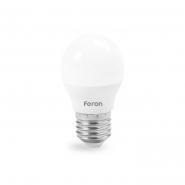 Лампа светодиодная LB-195 G45 230V 7W 720Lm  E27 4000K Feron