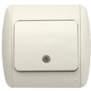 Выключатель одноклавишный с подсветкой белый Распродажа ZIRVE EL-BI