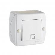 Выключатель 1кл накладной Mono Electric, OCTANS IP 20 белый