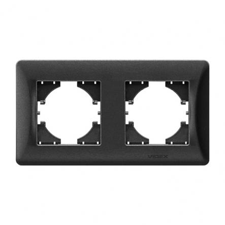 Рамка х2 горизонтальная черный графит VIDEX BINERA - 1