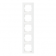Рамка пятерная вертикальная белый VIKO Серия KARRE