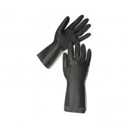 """Перчатки резиновые КЛС чёрные длинные размер """"L""""265"""