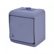 "Кнопка ""звонок"" (серый) (IP44) VHE-4-SR"