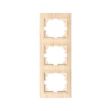 Рамка 3-я вертикальная дуб выбеленный матовый Lezard серия MIRA - 1