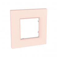Рамка 1-местная розово-жемчужный UNIKA QUADRO