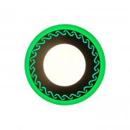"LED панель Lemanso ""Завитки"" 6+3W с зелёной подсветкой 540Lm 4500K 175-265V / LM539 круг"