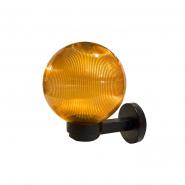 Светильник настенный шар дымчатый ребристый Е-27, 25W 247*200*271mm 220АСКО