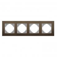 Рамка на 4 места горизонтальная VIDEX Binera Шоколадный алюминий (VF-BNFRA4H-CH)
