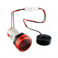 Амперметр цифровой ED16-22AD 0-100A (красный) врезной монтаж