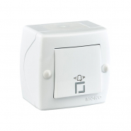 Кнопка звонка Mono Electric, OCTANS IP 20 белая