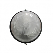 Светильник влагостойкий MIF 010 100W круг черный без решетки
