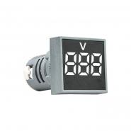 Вольтметр квадратный  ED16-22FVD 30-500В АС (белый) врезной монтаж