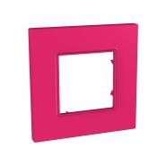 Рамка 1-местная Pink UNIKA QUADRO розовый