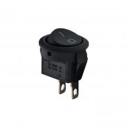 Переключатель 1кл круглый чёрный KCD5-2-101 В/В