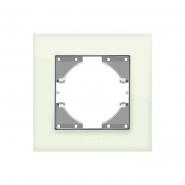 Рамка зеленое стекло одинарная горизонтальная VIDEX BINERA
