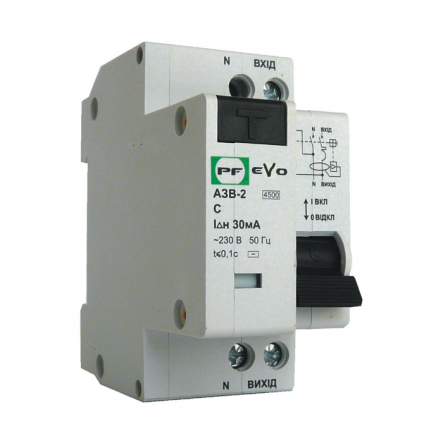Дифференциальный автомат Промфактор ECO АЗВ-2-С25 30 230 УЗ - 1