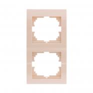Рамка двойная вертикальная крем DERIY LEZARD