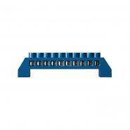 Нулевая шина в пластиковом корпусе ВС-6А 6,5х12мм, 10отверстий (6*9)