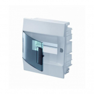 Щит пластиковый ABB Mistral на 8 модулей Белый с прозрачной дверкой