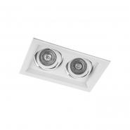 Светильник точечный Feron DLT202 2xMR16/G5.3 белый поворотный