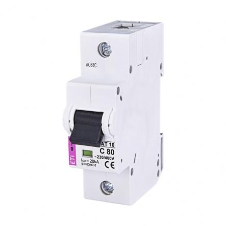 Автоматический выключатель ETI 10 1p C 80А (20 kA) 2131731 - 1