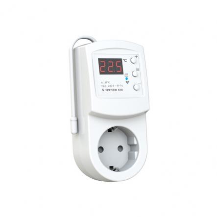 Терморегулятор TERNEO terneо rzx (РОЗЕТКА)0...+30°С 16А(для обогревателей) Wi-Fi - 1